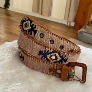 Other - Leather & Woven Southwestern Belt Guatemala Sz 44